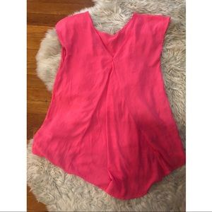 Pink Forever 21 swing top S shirt sleeves blouse